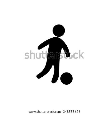 soccer player icon - stock vector