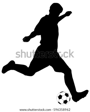 soccer player silhouette stock images, royalty-free images