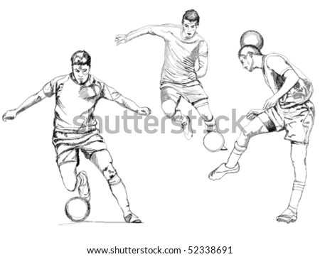 Soccer player vector. - stock vector