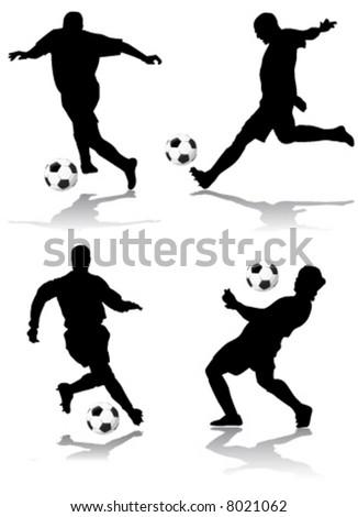 soccer player vector - stock vector