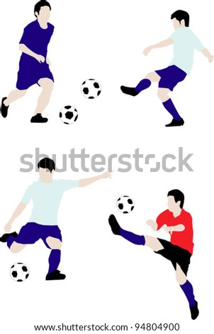 soccer player vector - stock vector