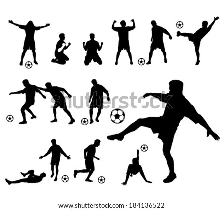 soccer player vector silhouette