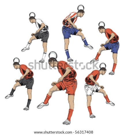 Soccer player with  team dress. - stock vector