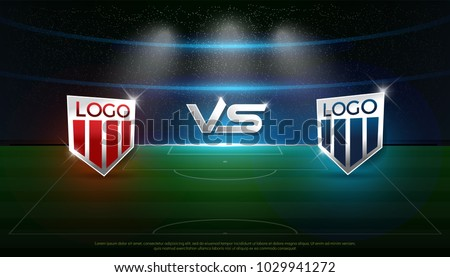 soccer scoreboard stadium background team a vs team b strategy broadcast graphic template football score
