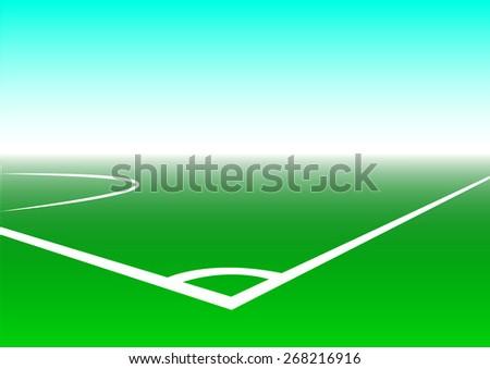 soccer sport and corner soccer field , vector illustration - stock vector