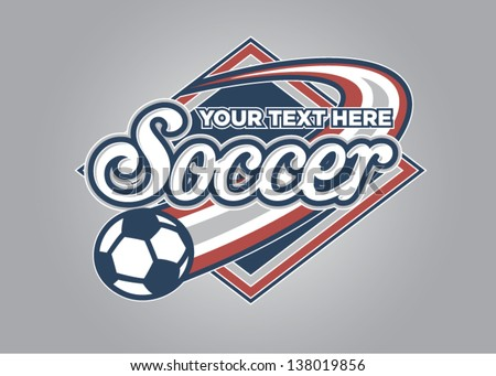 Soccer Sport Graphic - stock vector