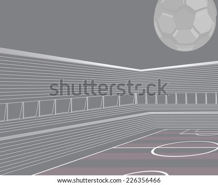 Soccer stadium architecture scheme. - stock vector