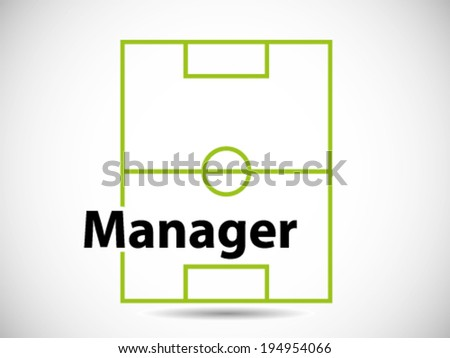 Soccer Stadium Manager - stock vector