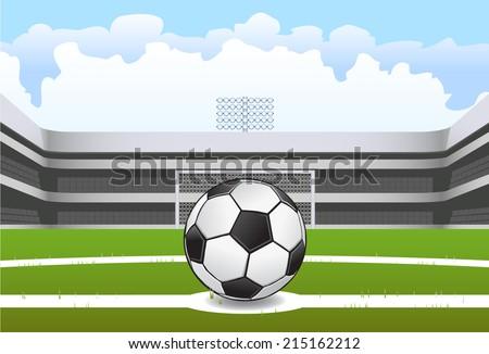 Soccer stadium vector - stock vector