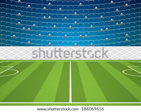Soccer Stadium.Vector Illustration - stock vector