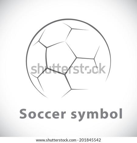 Soccer symbol icon isolated white. Vector illustration, Logo template design - stock vector