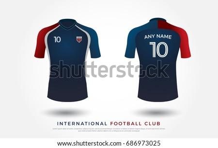 Soccer tshirt design uniform set soccer stock vector for Stock t shirt designs