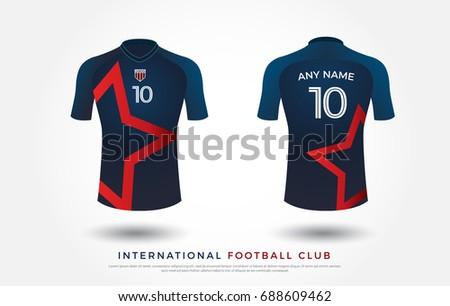 soccer t shirt design uniform set of soccer kit football jersey template for football - Soccer T Shirt Design Ideas