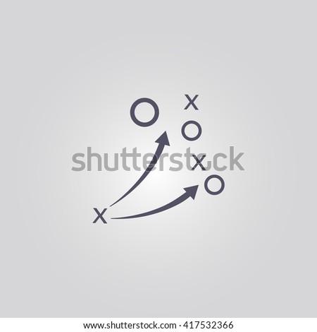 soccer tactic icon.soccer tactic sign.soccer tactic logo - stock vector