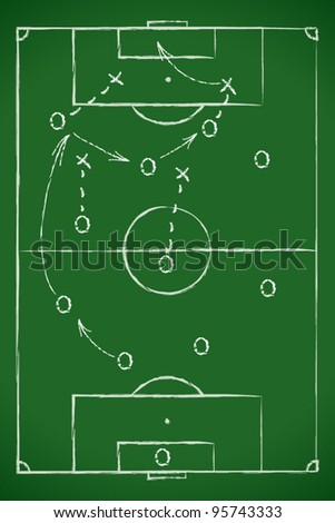 Soccer tactic table - stock vector
