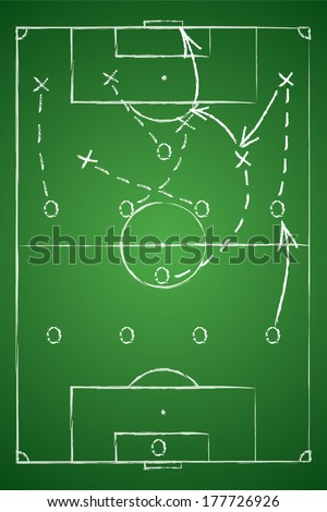 Soccer tactic table. Vector illustration - stock vector