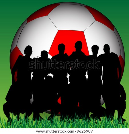 soccer team - stock vector