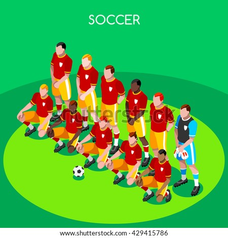 Soccer Team France EURO 2016. Football Players Athletes.Vector France 2016 Soccer Match. EURO Championship Football Team. Football International Match Illustration. European Cup 2016 Soccer Team. - stock vector
