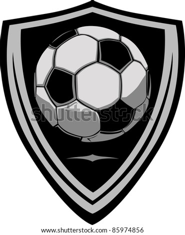 Soccer Template with Shield - stock vector