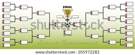 Soccer Tournament Bracket - stock vector