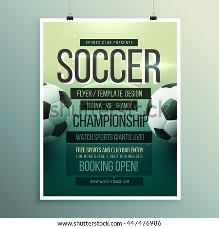 Soccer Flyer Stock Images RoyaltyFree Images  Vectors