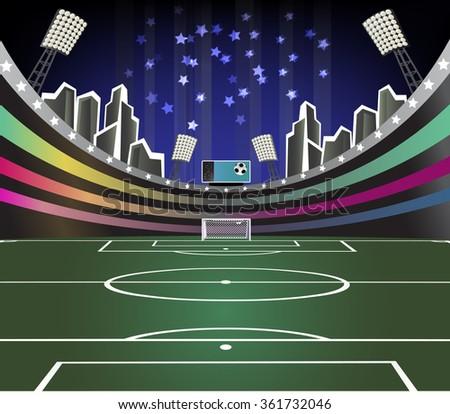 Soccer vector background. - stock vector