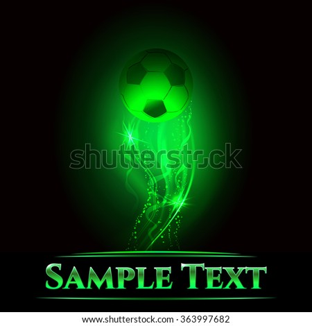 Soccer vector concept, template for championship, tournament, team - stock vector
