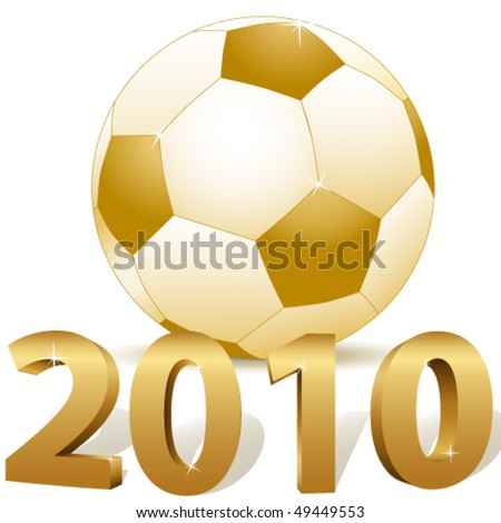 soccer 2010 - vector illustration - stock vector