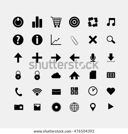 Social and media black icons