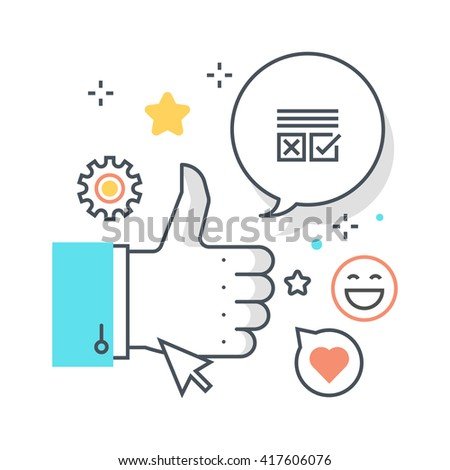 Social campaign concept illustration, icon, background and graphics. The illustration is colorful, flat, vector, pixel perfect, suitable for web and print. It is linear stokes and fills.
