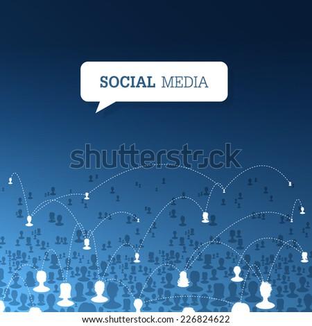 Social communications concept. Vector - stock vector