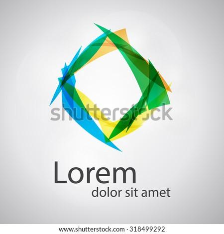 Social concept vector logo design template. Science technology abstract icon - vector logo. Teamwork symbol.  Community icon. Abstract globe icon. As sign, symbol, web, label. Vector illustration. - stock vector