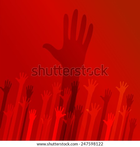 Social hands up donation vector isolated  - stock vector