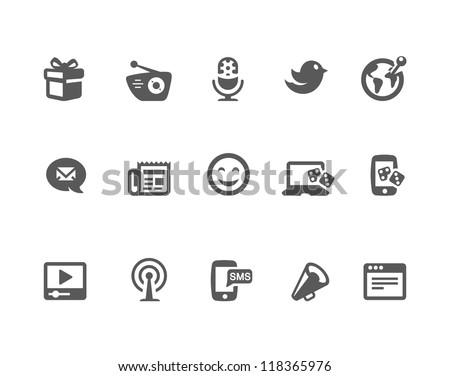 Social icon set - stock vector