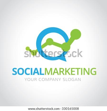 Social marketing logomarketing logo vector logo stock vector social marketing logomarketing logo vector logo template thecheapjerseys Choice Image