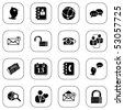 Social media and blog icons - BW series - stock vector