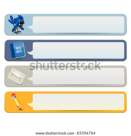 Social Media Banners - stock vector