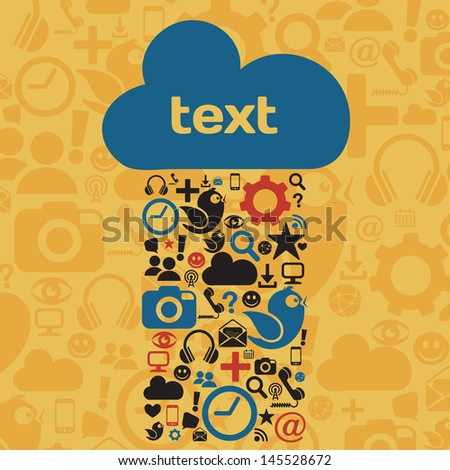 Social Media Cloud - stock vector