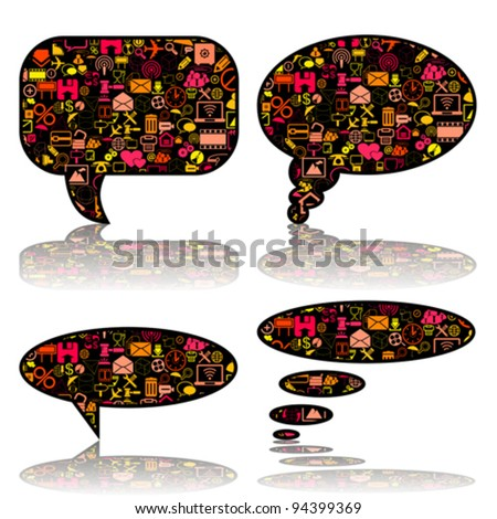 Social Media, communication bubbles in the global computer networks, vector - stock vector