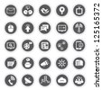 social media, communication icon set - stock photo