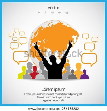 Social media concept - stock vector