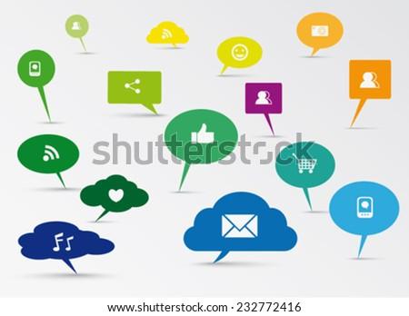 Social Media concept design - stock vector