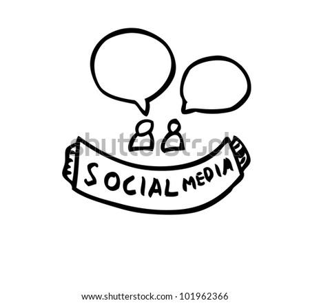 social media concept illustration - stock vector
