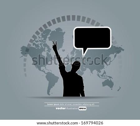Social media concept. Vector - stock vector