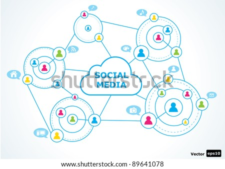 Social media concept. vector illustration - stock vector