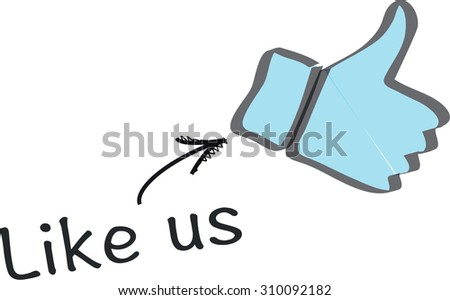 Social media connect icon - stock vector