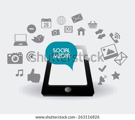 Social media design, vector illustration. - stock vector