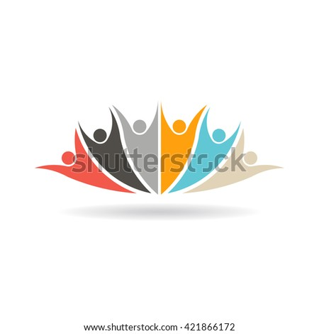 Social media group of people 6 logo. Vector graphic design