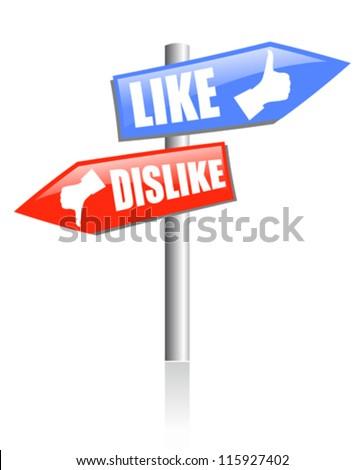 Social media guidepost, vector illustration - stock vector