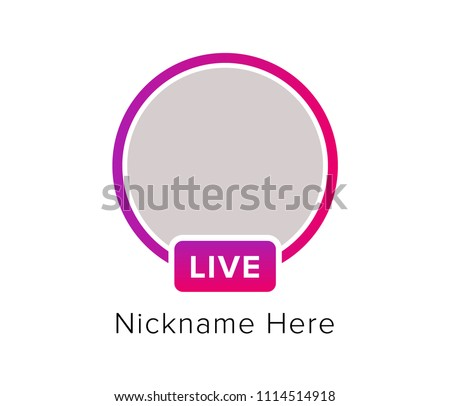 Social Media Icon Avatar Frame Live Stock Vector 1114514918 ...